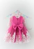Детское платье Амели, в цвет малина