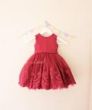 Детское платье Амели, в цвет бордо