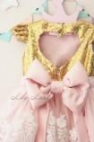 Детское платье Амели, в цвете персик и золото