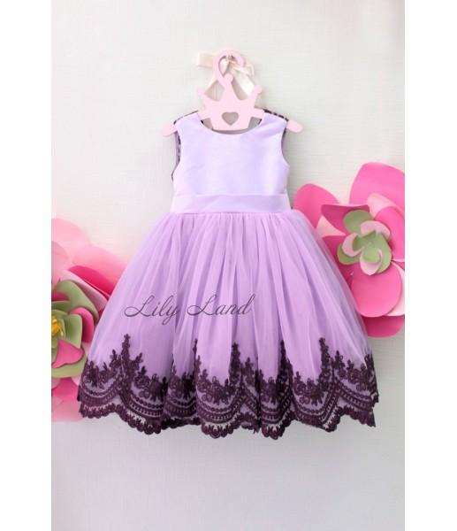 Детское платье Амели, в цвете лаванда
