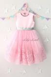 Детское платье Амели, в цвет розовый