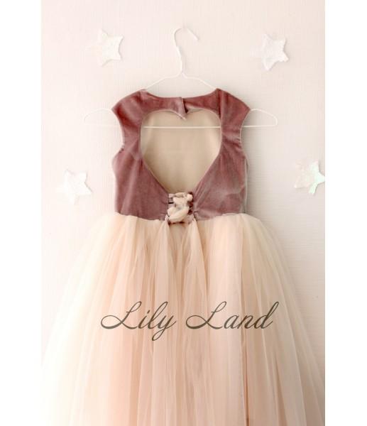 Платье Ангельское сердце, цвет шоколад