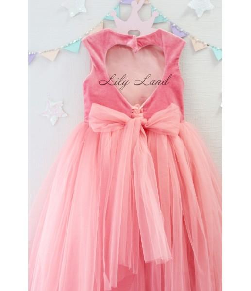 Платье Ангельское сердце, цвет коралл