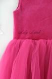Платье Ангельское сердце, цвет малина