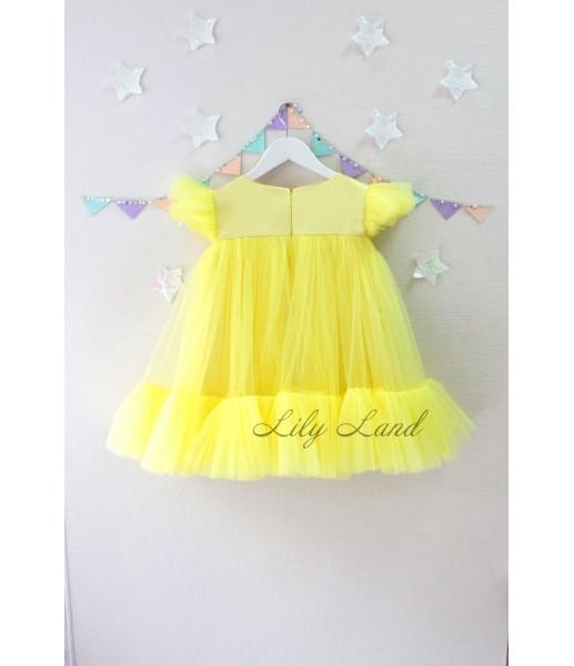 Детское платье Белль, цвет желтый