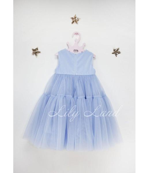Детское платье Белль пышное , цвет голубое
