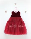 Детское платье Белль пышное , цвет бордо