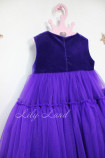 Детское платье Белль пышное , цвет ежевика