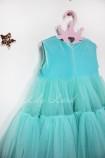 Детское платье Белль пышное, цвет тиффани