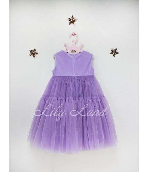 Детское платье Белль пышное , цвет лаванда