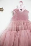 Детское платье Белль пышное , цвет пыльная роза
