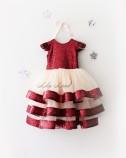 Детское платье Бруклин, цвета бордо