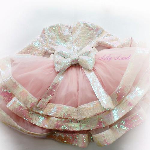 Детское платье Бруклин, цвет перламутр