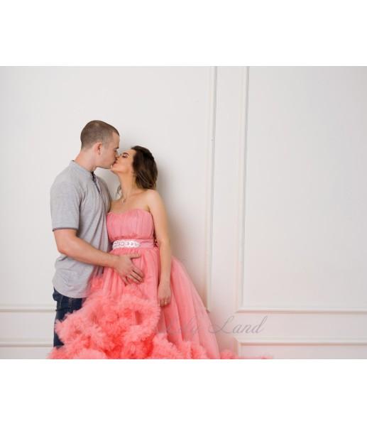 Женское платье Облако, цвет персик