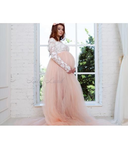 Женское платье для беременных, цвет персик