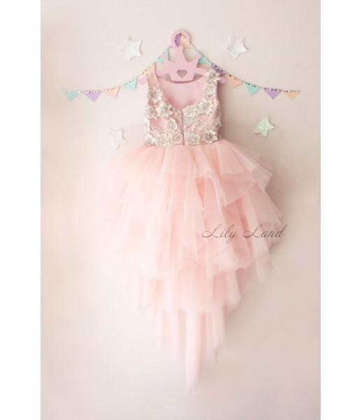 Детское платье, цвет розовый