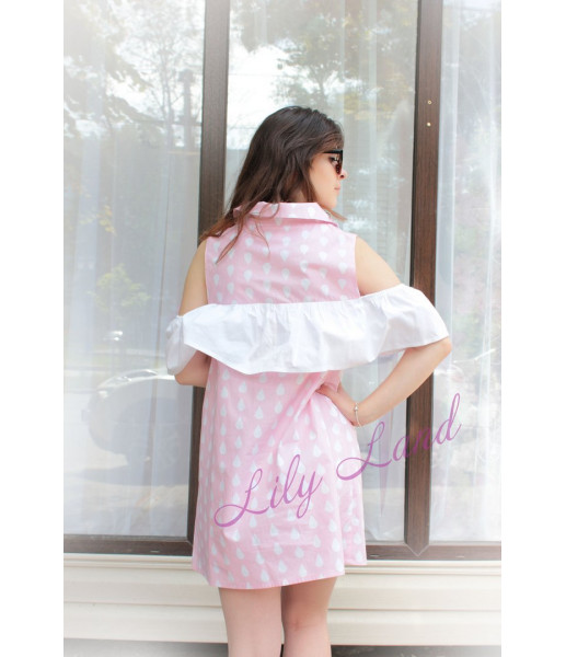 Комплект летних платьев, цвет розовый