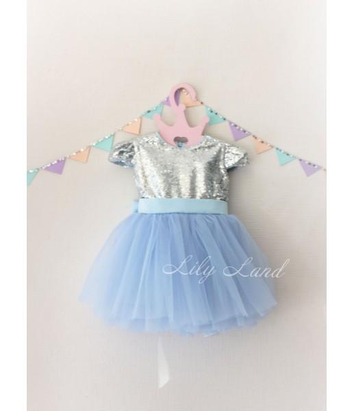 Детское платье Фатиновый рай, цвет голубой