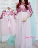 Комплект платьев Фатиновый рай, цвет розовый