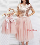 Комплект платьев Фатиновый рай, цвет пудра