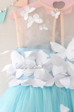 Детское платье Флер, цвет голубой