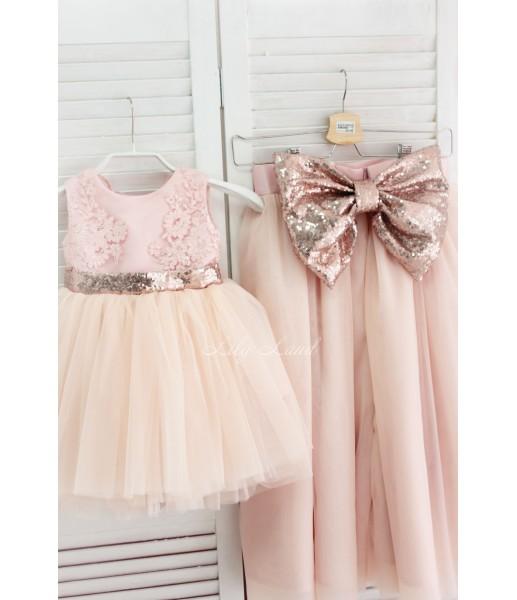 Комплект платьев Мелисса, цвет пудра