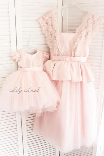 Детское платье Офелия, цвет пудра