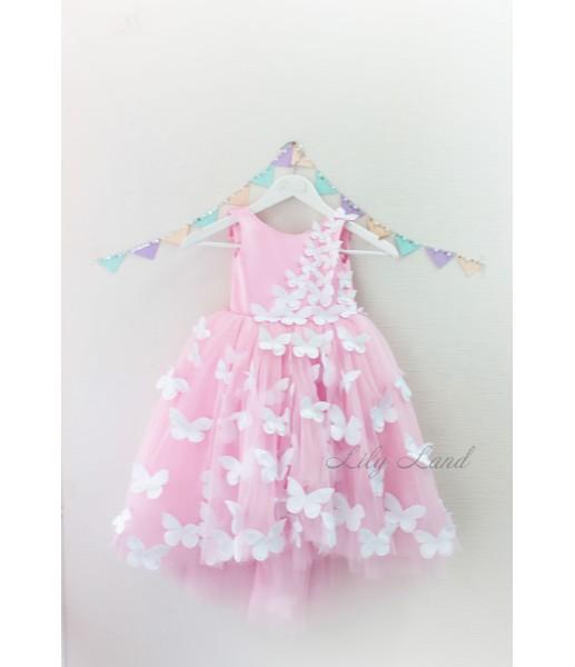 Детское платье Флер, цвет розовый