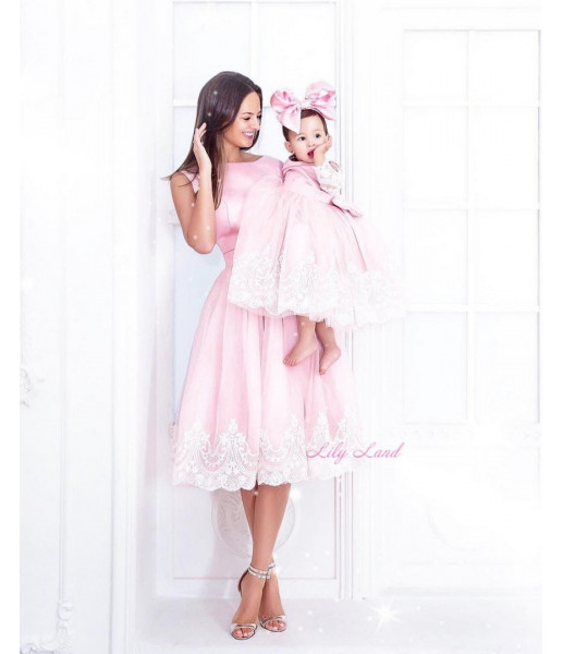 Комплект платьев Амели, цвет розовый