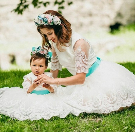 Комплект платьев Амели, цвет белый