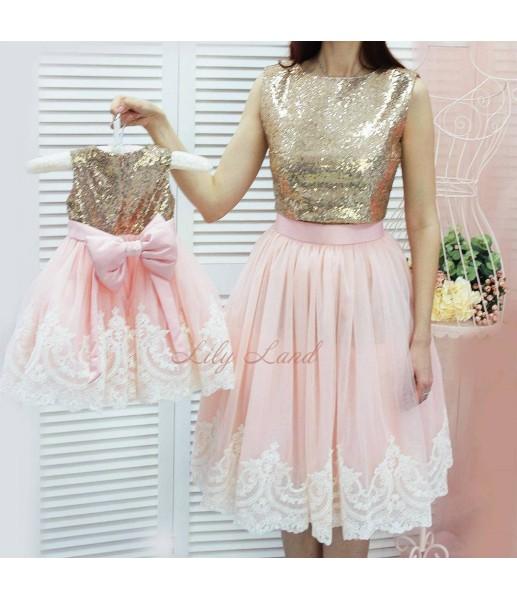 Комплект платьев Амели, цвет розовый и золото