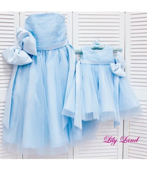 Комплект платьев Зефирное облако, цвет голубой