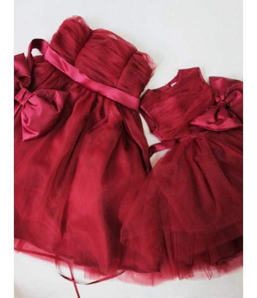 Комплект платьев Зефирное облако, цвет красный