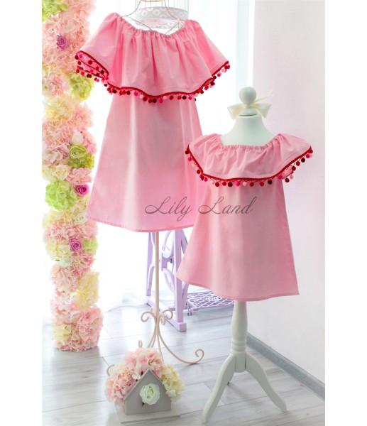 Комплект платьев Колокольчик, цвета розовый