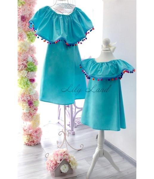 Комплект платьев Колокольчик, цвет синий