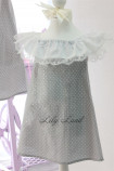 Комплект платьев Колокольчик, цвета серый в горошек
