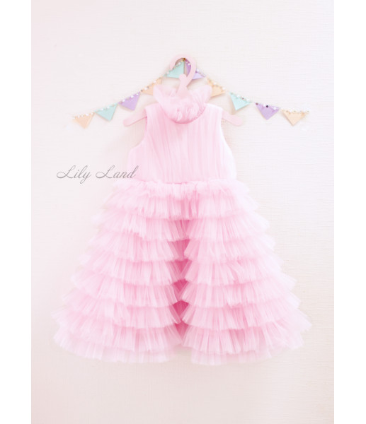 Детское платье Кристалл, цвет розовый