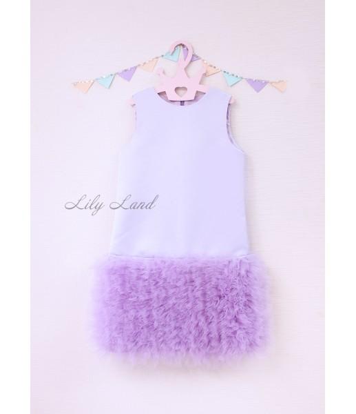 Детское платье Лолита цвет лаванда