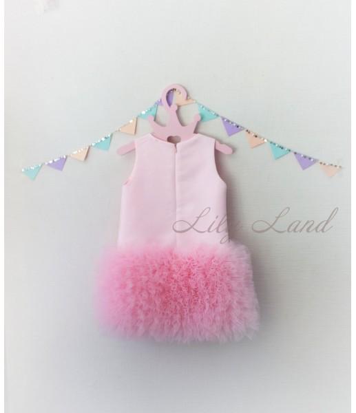 Детское платье Лолита, цвет розовый