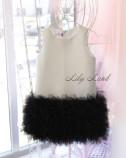 Детское платье Лолита, цвет черно-белый