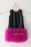 Детское платье Лолита, цвет черный и малина