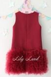 Детское платье Лолита, цвет бордо