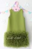 Детское платье Лолита, в цвете оливка