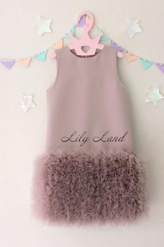 Детское платье Лолита, в цвете капучино