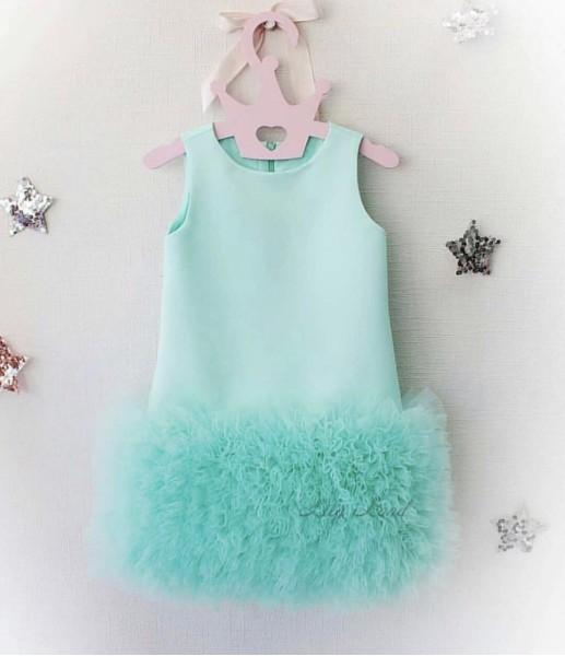 Детское платье Лолита, цвет мята