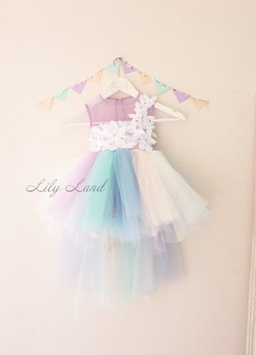 Нарядное платье MyLittlePony, с бабочками и шлейфом