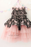Детское платье Нинель, цвет розовый и черный
