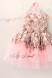 Детское платье Нинель, цвет розовый и бронза
