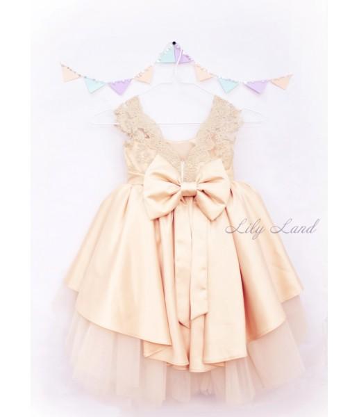 Детское платье Офелия, цвет песочный