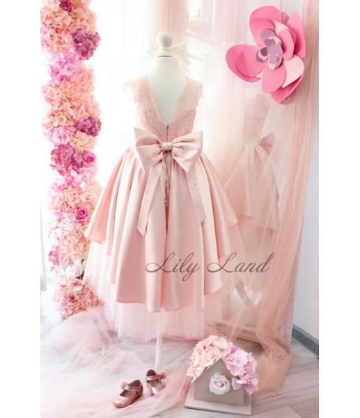 Детское платье Офелия, цвет розовая пудра